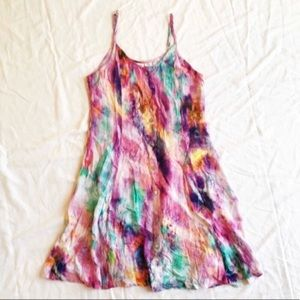 Somedays Lovin Button Front Watercolor Sundress